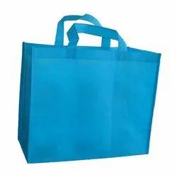 Sky Blue Plain Non Woven Bag, For Shopping
