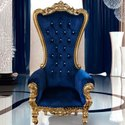 Antique Golden Wooden Maharaja Chair For Home