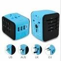 Universal Travel 3 USB and 1 Type C 3.4 Amps International Power Adapter