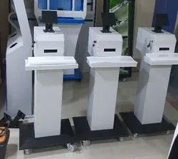 Temperature Monitoring Kiosk With Sanitizer