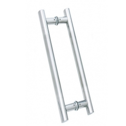 H Shape Dotted Glass Door Handle