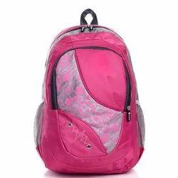 Polyester Printed Girls School Backpack