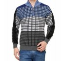 Mens Checkered Winter Sweater