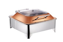 Square Glass Lid Square Chafer Glass Lid Rose Gold Lid