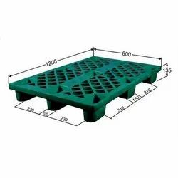 Rectangular Green Nestable Plastic Pallet