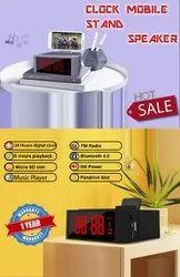 Clock Mobile Stand Speaker