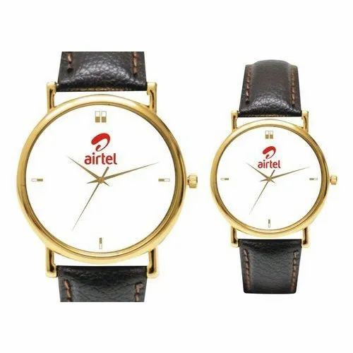 Round Casual Leather Wrist Watches
