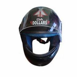 Plastic Black DA Dollars Full Face Helmet