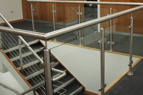 Stainless Steel Glass Hand Railing For Office Uses, SS ...