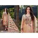 Peach Bela Printed Pashmina Suits