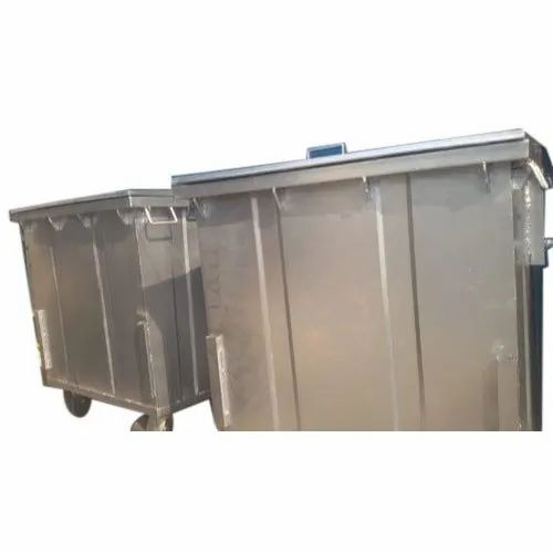 Mild Steel Garbage Container for Outdoor, Capacity: 100-1500 L