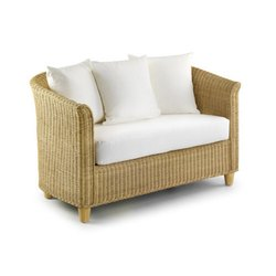 Wooden White Bamboo Sofa Chair