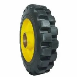 Normal Rubber Tyre With Bearing Hub, Size: 10 X 2 Inch