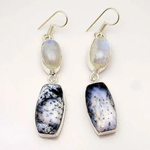 Dendrite Opal Earrings