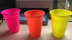 Pp Material Multicolor Drinking Glasses Recyclable, Size: 450 Ml