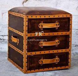Hotel Furniture - Designer Leather Bedside & Nightstand - Resort Furniture, Resort & Hotel Bed Side