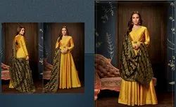 Designer Silk With Embroidery Gown