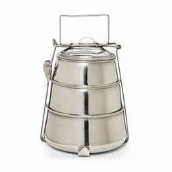 3 SS Containers Pyramid Tiffin