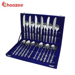 Choozee - Handmade Cutlery Set of 24 Pcs (Zig Zag Design)