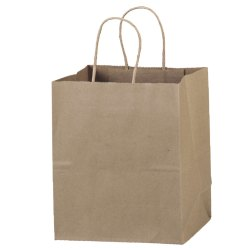 Brown Biodegradable Plain Paper Bag, for Shopping