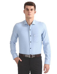Cotton Blue Mens Formal Shirts