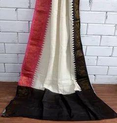 Zari Checked Sungudi Cotton Sarees, Length: 5.5 m with Separate Blouse Piece
