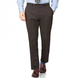 Regular Fit Brown Mens Black Cotton Trouser, Size: S-XXL