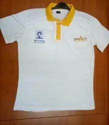 Knit White Pmkvy Tshirt