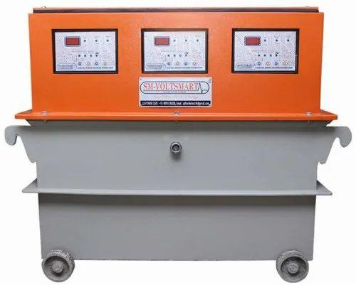 Digital 3 Phase Oil Cooled Servo Controlled Voltage Stabilizer