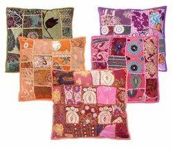 Khambadiya Cotton Cushion Cover