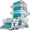 Ocean International Blue And White Two Layer Blown Film Machine, Capacity: 55 - 125 ( Kg/hr )