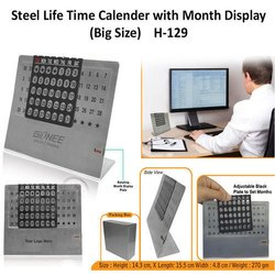 Steel Life Time Calendar With Month Plate (Big Size)  H-129