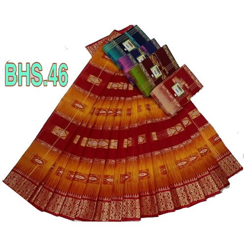 Cotton Party Wear Ladies Designer Sarees, 5.5 m (separate blouse piece), With Blouse Piece