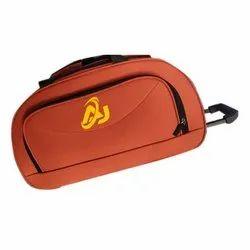 Polyester Orange Travel Trolley Bag