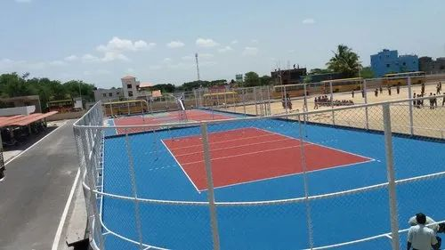 Volleyball Court Construction