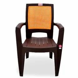 Avro 8856 Brown Color With Orange Insert Plastic Chair, Weight: 2.81 Kg
