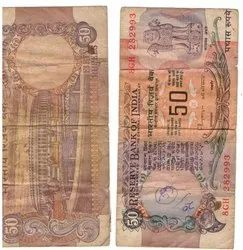 Old Fifty Rs Note