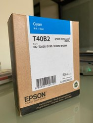 Cyan EPSON T3130 Ink T40B2 Cartridge, Size: 100gsm