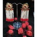 Wedding Hanging Artificial Beaded Earrings