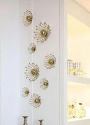 YADU METALS Golden Wall Decore, For Home Decore, Wall Decoration, Size: Costumize