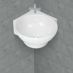 Ceramic Wall Mounted Delux Corner Table Top Art Wash Basin for Bathroom