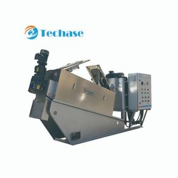 Tech 402 Sludge Dewatering Screw Press