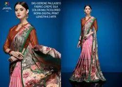 Rachna Crepe Silk Digital Printed Serene Paula Catalog Saree For Women 10
