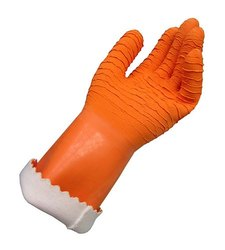 Orange Latex Supported Gloves