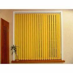 PVC Window Orange Vertical Blinds