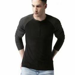Mens Plain Full Sleeves Cotton T Shirt