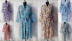 Meera Handicrafts Cotton Kimono Robe Women Nighty Dress