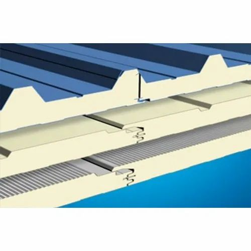 Blue Puf Panel Roofing Sheet Rs 300 Square Meter Sai Sgs Roofings Private Limited Id 20737552062