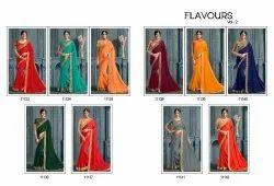 Work Party Wear Designer Chiffon Saree, With Blouse Piece, 5.5 M (Separate Blouse Piece)