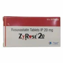 Rosuvastatin 20mg Aagam Lifesciences Zyrose 20, 10x10, Treatment: Lipid Lowering Agent